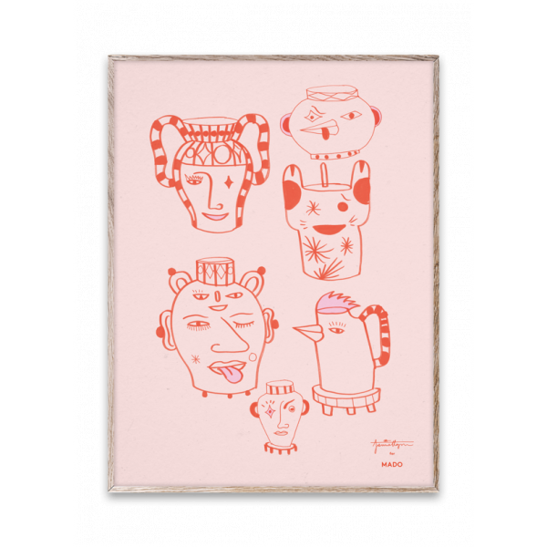 PRINT - Paper Collective, Pot Vases red 1
